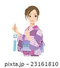 女性 浴衣 夏のイラスト 23161810