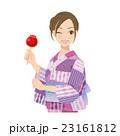 女性 浴衣 夏祭りのイラスト 23161812