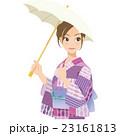 女性 浴衣 夏のイラスト 23161813