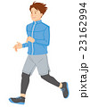 男性 運動 走るのイラスト 23162994