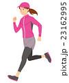運動 走る ランニングのイラスト 23162995
