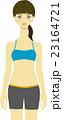 女性 スポーツウエア 若いのイラスト 23164721
