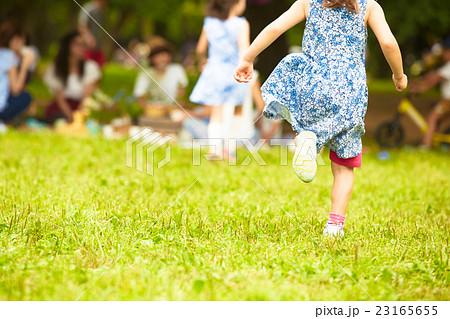 公園で遊ぶ子供 23165655