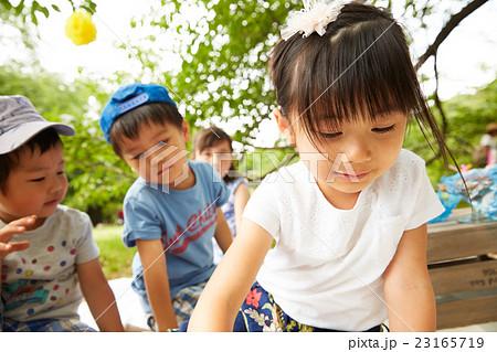 公園で遊ぶ子供 23165719