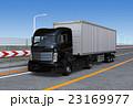高速道路 トラック 自動運転のイラスト 23169977