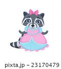 Girl Raccoon In Fancy Dress 23170479