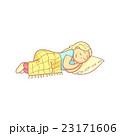 女性 うたた寝 人のイラスト 23171606
