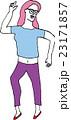 ダンスをするピンクヘアーの女の子 Dancing Pink hair girl 23171857