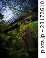 石垣の鉄橋のある風景01 23172610