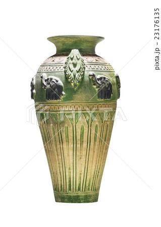 Pottery vase isolated on whiteの写真素材 [23176135] - PIXTA