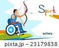 Disabled Athlete On Wheelchair Archery Sport 23179838