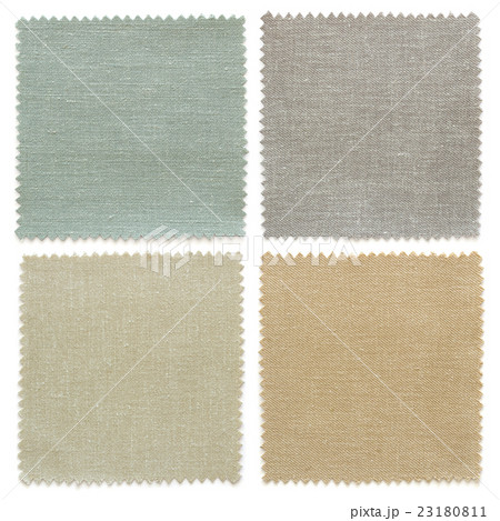 set of fabric swatch samples textureの写真素材 [23180811] - PIXTA
