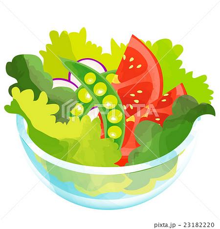 トマトとスナップエンドウのサラダ 23182220