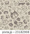 猫の顔、肉球、おしりの模様 23182908