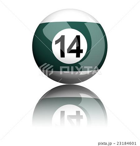 Billiard Ball Number 14 3D Renderingのイラスト素材 [23184601] - PIXTA