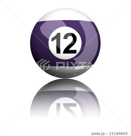 Billiard Ball Number 12 3D Renderingのイラスト素材 [23184603] - PIXTA