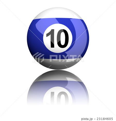 Billiard Ball Number 10 3D Renderingのイラスト素材 [23184605] - PIXTA