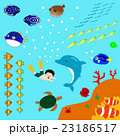 魚と海水浴 23186517