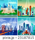 American Cityscapes Concept Icons Set  23187815