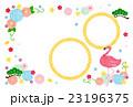 年賀状テンプレート 年賀状 フラミンゴのイラスト 23196375