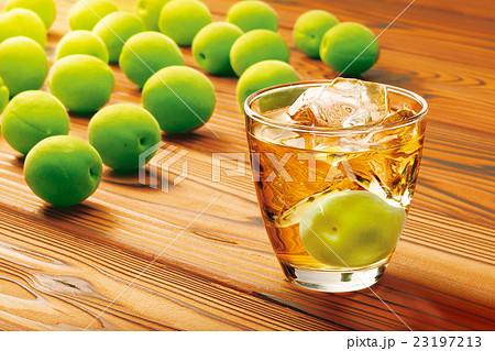 梅の実と梅酒 23197213