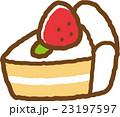 ショートケーキ スイーツ お菓子のイラスト 23197597