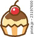 カップケーキ スイーツ おやつのイラスト 23197600