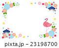 年賀状テンプレート 年賀状 フラミンゴのイラスト 23198700
