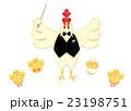 雄鶏とヒヨコたち 23198751