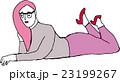 ピンクヘアーの女の子 Pink hair girl 23199267