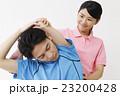 整体 ストレッチ コアバランス コアバランスストレッチ 整体士 女性 患者 男性 白バック 23200428