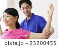整体 ストレッチ コアバランス コアバランスストレッチ 整体士 女性 患者 男性 白バック 23200455