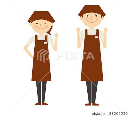 販売員 男女 全身 働く人々 イラストのイラスト素材 23205530 Pixta