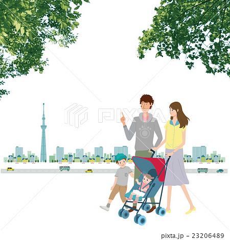 家族 スカイツリー 緑 23206489