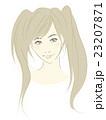 女性のイラスト(茶髪明るめツインテール)美少女 23207871