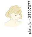 女性のイラスト(茶髪明るめボブカット) 23207877