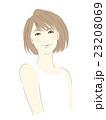 女性のイラスト(茶髪ボブカット) 23208069