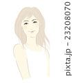 女性のイラスト(明るめセミロング) 23208070