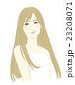 女性のイラスト(茶髪ロングヘア) 23208071