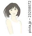 女性のイラスト(茶髪黒髪ボブカット) 23208072