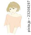 女性のイラスト(茶髪のボブカット) 23208297
