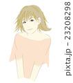 女性のイラスト(茶髪ボブカット)外はね 23208298