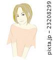 女性のイラスト(茶髪ボブカット) 23208299