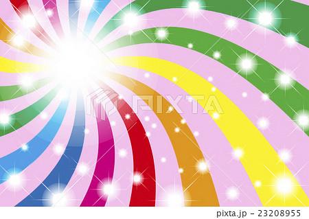 背景素材壁紙 虹色 レインボー 光 輝き パーティー イベント 幸福 華やか 楽しい ハッピー 幸せのイラスト素材 2355