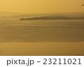 七尾湾 夕暮れ 夕焼けの写真 23211021