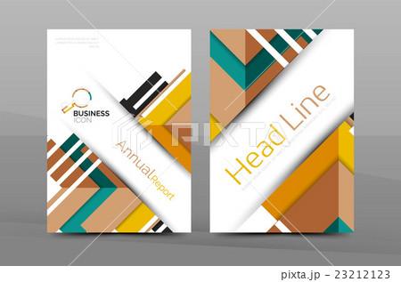Colorful annual report coverのイラスト素材 [23212123] - PIXTA