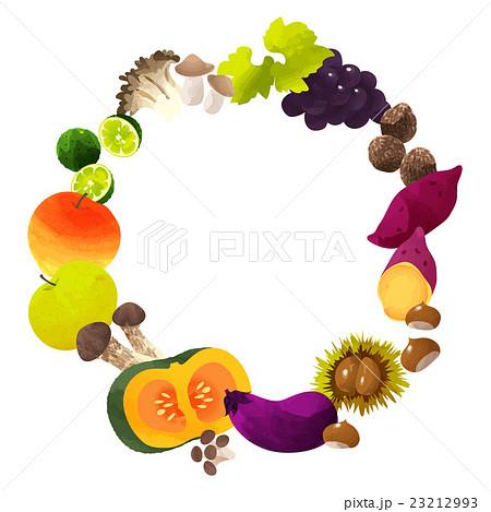 フレーム秋の味覚のイラスト素材 23212993 Pixta
