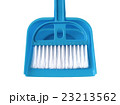 Broom and Blue Dustpan isolated on white 23213562
