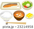 定食 焼き魚 和食のイラスト 23214958