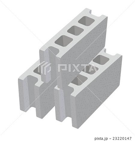 コンクリートブロック イラストのイラスト素材 [23220147] - PIXTA